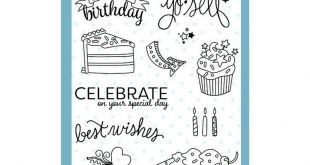 Clear Photopolymer Stamp Set - Sweet Celebration