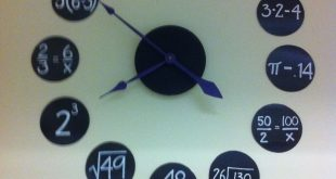 Awesome clock to teach students maths concepts