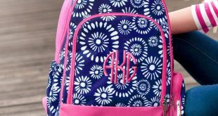 Riley Girls Monogram Backpack, Personalized Bookbag, Monogrammed Backpack, Laptop Backpack, Girls Book Bag, School Supplies