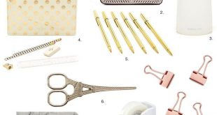 Unique Back to School Supplies in Marble & Gold - Opis Flores