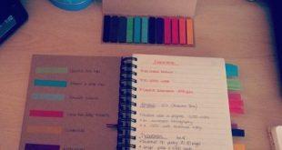 colour coding a notebook