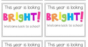 Back-to-School Student Gift Tags...A Freebie for You! (Second Grade Freebies)