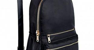 Fashion Backpack Oxford Waterproof Cloth Nylon Rucksack School College Bookbag Shoulder Purse - Black - CI182ZWAO6D