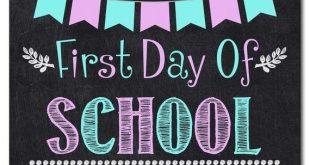 First Day of SCHOOL Sign, School Chalkboard, INSTANT DOWNLOAD, School Chalkboard Sign, School Digita