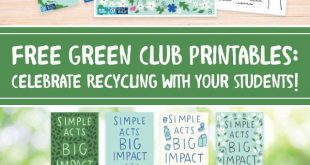 Free Green Club Printables: Celebrate Recycling with Your Students! Whether you ...
