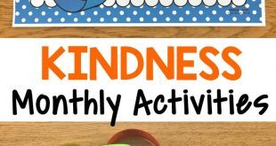 Kindness Activities {Monthly Kindness Activities and Posters}