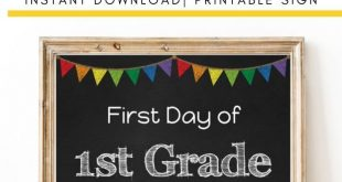 1st Grade First Day of School Sign | Back to School | First Day of School Printable | Printable Sign | PDF Instant Download