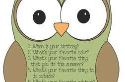 "Back To School: It's ""Owl"" About Me Icebreaker"