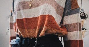 Brown Rundhals Langarm Damen Ernte Sweatshirt