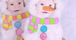 Cotton Ball Snowman Craft for Kids – DIY Christmas Card