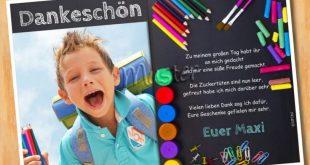 Danksagung Einschulung Schulanfang MUSTER 9 - Bild vergrößern