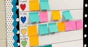 Die Check-in-Tabelle für die mentale Gesundheit von klugen Lehrern inspiriert Pädagogen, ihre eigenen zu erstellen