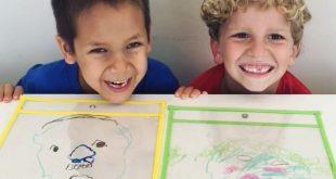 Drawing Portraits on Sheet Protectors * ages 4+ ⋆ Raising Dragons