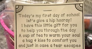 First day of school parent gift poem and care package. #firstdayofschool #backto...