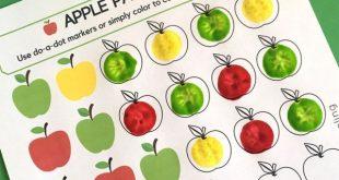 KOSTENLOSE Färbung mit Apple-Motiven für Kinder im Vorschul- und Kindergartena...