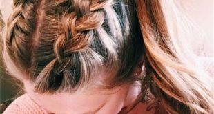 Nette und einfache lange Frisuren für Schule 2019; coolste Haarfarbtrends im Ja...
