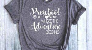 Preschool Where the Adventure Begins™, Teacher Shirt, First Day of School Shirt, Preschool Shirt, Teacher t-shirt, First Day Shirt