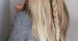Schöne einfache Party-Frisuren für langes, dichtes Haar für die Schule