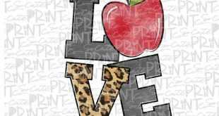 Teacher clipart, Back to school, PNG file for sublimation, first day of school, love apple clipart,