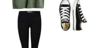 Wie trage ich Converse to School (35 Outfits)